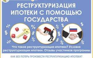 Программа реструктуризации ипотеки с помощью государства