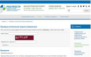 Проверка готовности документов Росреестра онлайн